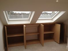 Extra storage idea of under the eaves in a loft conversion