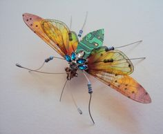 The 5 Jewelled Winged Computer Bug by DewLeaf on Etsy