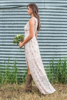 All My Love Lace Sleeveless Bridesmaid Maxi Dress In Taupe Ivory - Filly Flair Country Bridesmaid Dresses, Wedding Dresses, Filly Flair, Always A Bridesmaid, Creative Wedding Ideas, Dress With Boots, Wedding Themes, Wedding Season, 50th