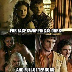 Game Of Thrones Memes 2019 - Game of faces. Game Of Thrones Jokes, Got Game Of Thrones, Z Nation, Got Memes, Funny Memes, Funny Videos, Hilarious, Game Of Thrones Instagram, Star Trek
