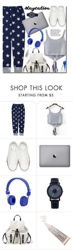 """""""Rest Up: Staycation"""" by justkejti ❤ liked on Polyvore featuring Valentino, Urbanears, Steve Madden, FCTRY, casual, ootd, staycation and zaful"""