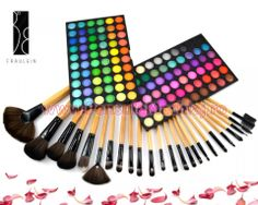 Trusa Farduri 120 culori Fraulein38 Jelly Matte + 24 pensule machiaj lemn lacuit Art Supplies, Jelly, Jelly Beans, Jello