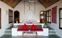 Lovely Interior of the bedroom in Cassita interior at Matachica