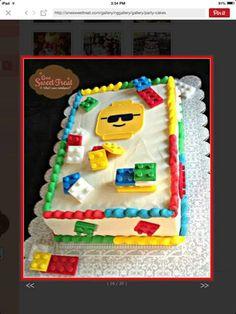 Lego themed sheetcake