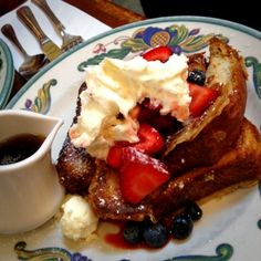 Red, White & Blue French Toast @ Zazie - yum!!! perfect to share!