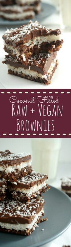 These raw, vegan, and gf brownies taste anything but healthy! We love them with a tall glass of milk, straight outta the freezer after a summer day! | savoringsimple.com