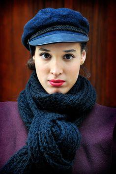 So Striking! -   You may be stuck with only one winter coat, or only one that enables you to go outside in sub-zero temps but you can have a fashion field day with scarves, wraps and mufflers.