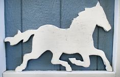 Rustic White Horse Sign Wall Decor Wood Horse Weathervane Farm Country Wall Art #5510 Country Wall Art, Country Farm, Rustic White, Rustic Barn, Wooden Cutouts, Wood Animal, Wall Signs, Diy Signs, Southwest Art