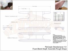 Standamaran SUP Plans Foam Blank Step 6