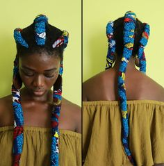 Ankara Print Braids Are the Coolest New Summer Hairstyle African Hairstyles, Afro Hairstyles, Black Women Hairstyles, Summer Hairstyles, Natural Hairstyles, Afro Punk, Hair Afro, Kinky Hair, Tribal Hair