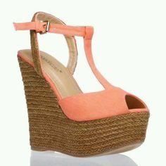 Wedge #shoes #peach