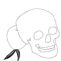 skulls feathers appel