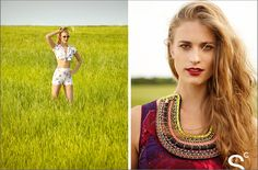 Swimsuit model Julie Henderson is the ultimate summer babe in The Woven Shield Necklace by @CC Skye Inc.!