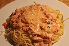 Spaghetti in Thunfisch - Tomaten - Soße