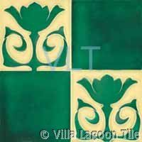 Antique reproduction Art Deco tiles from Villa Lagoon Tile. You get the three dimensional look of the original collector relief tiles but on a flat smooth surface satin finish tile. William Morris Art, Art Nouveau Tiles, Art Tiles, Cream Flowers, Style Tile, Decorative Tile, Green Cream, Needful Things, Surface Pattern
