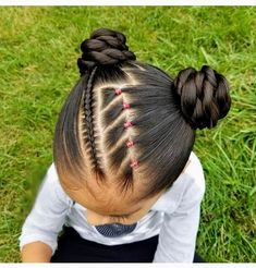 peinados para niñas Black Baby Hairstyles, Cute Toddler Hairstyles, Easy Little Girl Hairstyles, Natural Hairstyles For Kids, Kids Braided Hairstyles, Flower Girl Hairstyles, Princess Hairstyles, Competition Hair, Girl Hair Dos