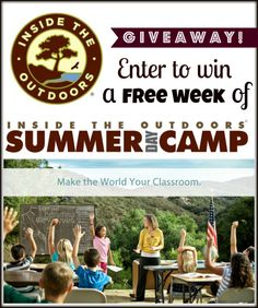 Happy Campers, Happy Summer! Enter to win a free week of 2013 summer day camp from Inside the Outdoors!