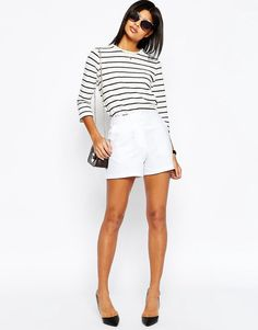 Image 1 ofASOS Tailored A-Line Short in Linen