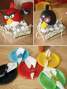 Creative Angry Birds Birthday Party // Hostess with the Mostess® Bird Theme Parties, Bird Birthday Parties, Bird Party, Boy Birthday, Party Themes, Ideas Party, Birthday Ideas, Birthday Cake, Cumpleaños Angry Birds