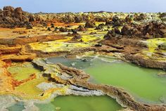You don't have to be a world traveler to lose yourself in the fantastic places that dot our planet. Here are 19 of the most unbelievable wonders around the globe. This is Ethiopia's Dallol Hydrothermal Field in the Danakil Desert. #WondersOfTheWorld