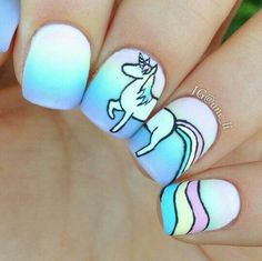 Majestic unicorn nail art                                                       …