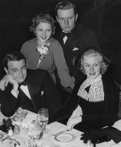 Lew Ayres, Ginger Rogers, Ben Alexander and Phyllis Cerf Old Hollywood Glamour, Golden Age Of Hollywood, Vintage Hollywood, Hollywood Stars, Classic Hollywood, Lew Ayres, Gorgeous Movie, Hattie Mcdaniel, John Garfield