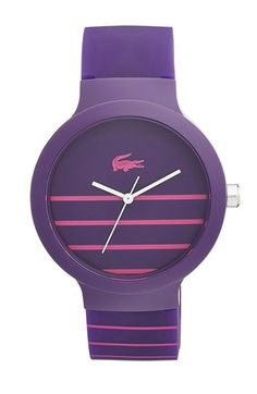 Lacoste+'Goa'+Stripe+Silicone+Strap+Watch,+40mm+available+at+#Nordstrom