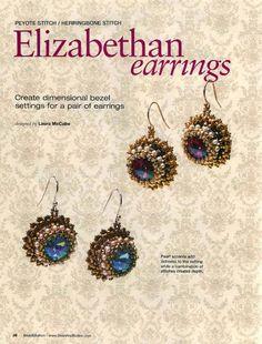 Схемы: Серьги. Архив Beads and Button 2006-2011 гг