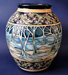 Moorcroft Pottery Moonshine 61/10 Kerry Goodwin http://www.bwthornton.co.uk/moorcroft.php