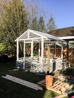 The Greenhouse Project: Framing and the Roof - Suburble Greenhouse Frame, Greenhouse Plants, Build A Greenhouse, Greenhouse Ideas, Greenhouse Supplies, Garden Supplies, Plant Watering System, Conservatory Design, Gable House