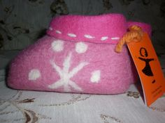 Slippers for girls from 100% wool felt hand made