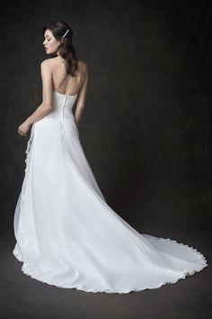 Gallery Style GA2288 | simple organza bridal gown | romantic garden wedding | Kenneth Winston wedding dress