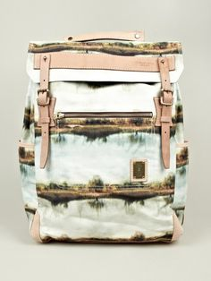 Master-piece x Nowartt Collaboration Series Landscape Print Backpack | oki-ni