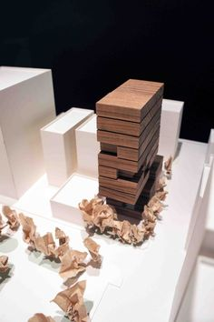 Gallery of Hotel Proverbs Taipei / Ray Chen + Partners Architects - 24 - My Recommendations Concept Models Architecture, Architecture Model Making, Architecture Drawings, Futuristic Architecture, Architecture Design, Taipei, Model Tree, Model Sketch, Arch Model