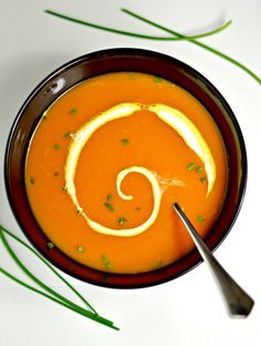 A comforting appetizer or a light dinner, this pumpkin coconut soup with a hint of ginger will warm you up during these chilly days. vegan & gluten free.