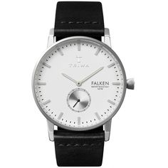 TRIWA Falken Ivory Black Classic Watch (11.225 RUB) ❤ liked on Polyvore featuring jewelry, watches, triwa, triwa watches, ivory jewelry, twist jewelry and water resistant watches