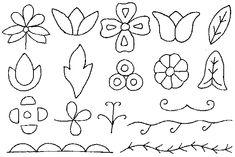 NativeTech: Glass Beadwork ~ Floral and Geometric Design Building Blocks by gloriaU Beading Patterns Free, Applique Patterns, Applique Designs, Flower Patterns, Bead Patterns, Beading Ideas, Beading Projects, Indian Beadwork, Native Beadwork