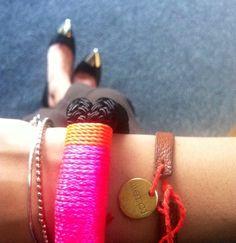 @lailajadallah wearing #therope #theropesmaine #bracelets