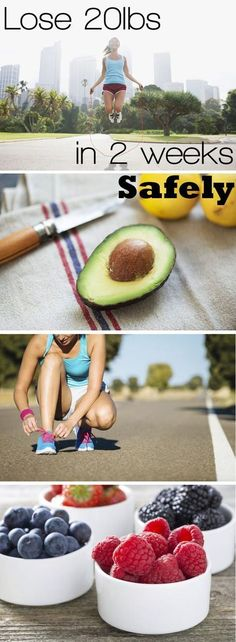 It's possible to lose weight in two weeks -- cutting bloat, fat and water weight -- without using a juice fast or starvation diet. The key to this weight-loss regimen is to stick to a small group of foods -- all lean proteins, healthy fats and whole grains. http://www.ehow.com/how_7722333_lose-pounds-2-weeks-safely.html?utm_source=pinterest.com&utm_medium=referral&utm_content=freestyle&utm_campaign=fanpage