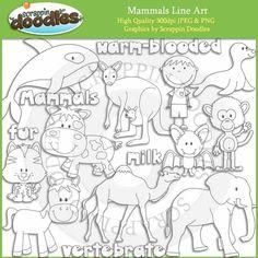 Mammals Line Art Download