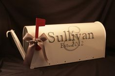 Wedding Mailbox Card Box for your reception to receive card and then for your first home ... by MarleyintheMiddle.etsy.com.