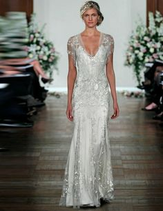 Jenny Packham dress. ELLE's guide to the ultimate Great Gatsby 1920s inspired wedding http://on.elleuk.com/Zb0HsT