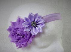 Purple Baby Headband Baby Girl Headband Baby by TheMomentWedding