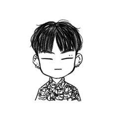 Kpop Drawings, Cartoon Drawings, Easy Drawings, Drawing Sketches, Yugyeom, Jaebum Got7, Got7 Fanart, Kpop Fanart, Jinyoung