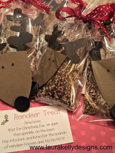 Super fun little diy gift for kids...magic reindeer treat!  #HolidayIdeaExchange