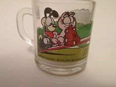 Garfield McDonald's Collectible Jim Davis Glass mug/cup