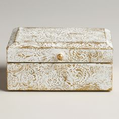 World Market Jewelry Box Captivating Ivory Bone Aiden Jewelry Box  World Market  For The Home  Pinterest Design Inspiration