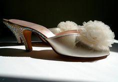 Vintage Boudoir Heels Bridal Daniel Green by DelilahBurlesque, $89.00