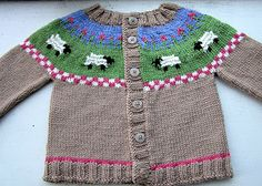 Sheep Yoke Baby Cardigan Pattern