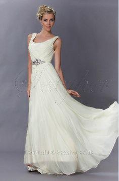 Delightful A-Line Pleated Full Length Evening Bridesmaid Dress